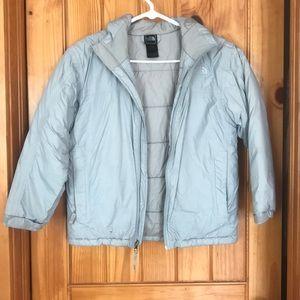 Light gray North Face boys jacket